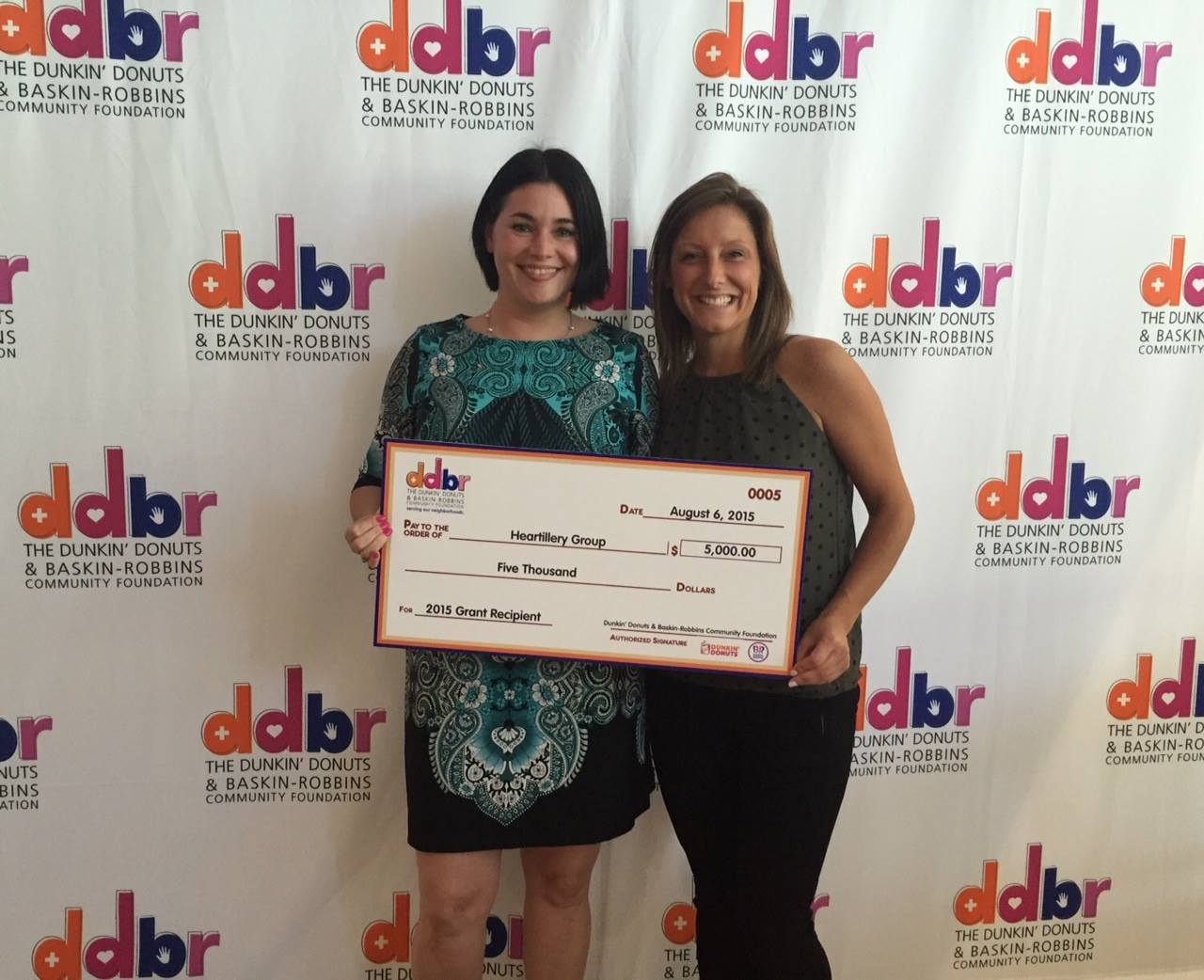 Heartillery receives Dunkin Donuts Baskin Robbins Community Foundation Grant