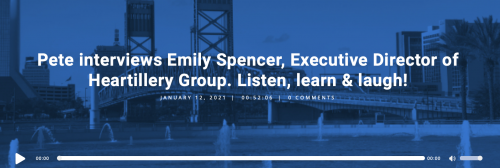 Pete The Job Guy interviews Emily Spencer, Executive Director of Heartillery Group. Listen, learn & laugh!
